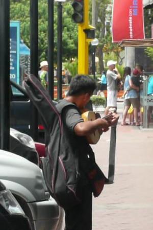 Street music in peru