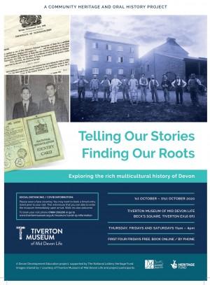 Tiverton Telling Our Stories exhibition leaflet